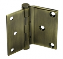 Deltana - SOLID BRASS DELTANA HALF SURFACE DOOR HINGE PAIR