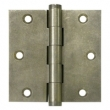 Deltana<br />DSB35 SOLID BRASS DOOR HINGES - 3.5&quot; x 3.5&quot; DISTRESSED SQUARE DELTANA DOOR HINGE PAIR