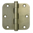 Deltana<br />DSB35R5-R SOLID BRASS DOOR HINGES - 3.5&quot; x 3.5&quot; DISTRESSED RESIDENTIAL 5/8&quot; RADIUS DELTANA DOOR HINGE PAIR