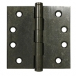 Deltana<br />DSB4 SOLID BRASS DOOR HINGES - 4&quot; x 4&quot; DISTRESSED SQUARE DELTANA DOOR HINGE PAIR