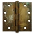 Deltana<br />DSB45 SOLID BRASS DOOR HINGES  - 4.5&quot; x 4.5&quot; DISTRESSED SQUARE DOOR HINGE PAIR