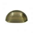 Deltana<br />K43 - Deltana Solid Brass Oval Shell Handle Pull - 3 1/2&quot;