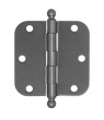 Deltana<br />S35R5-BT STEEL DOOR HINGES - 3.5&quot; x 3.5&quot; STEEL RESIDENTIAL 5/8&quot; RADIUS DOOR HINGE PAIR WITH BALL TIPS