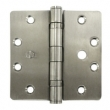 Deltana<br />SS35R5U32D-R STAINLESS STEEL DOOR HINGES - 3.5&quot; x 3.5&quot; STAINLESS STEEL RESIDENTIAL 5/8&quot; RADUIS DELTANA DOOR HINGE PAIR - US32D FINISH