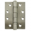 Deltana<br />SS4030BU32D STAINLESS STEEL DOOR HINGES - 4&quot; x 3&quot; STAINLESS STEEL TWO BALL BEARING SQUARE DELTANA DOOR HINGE PAIR - US32D FINISH