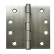 Deltana<br />SS44NBU32D STAINLESS STEEL DOOR HINGES - 4&quot; x 4&quot; STAINLESS STEEL NRP 2-BALL BEARING SQUARE DELTANA DOOR HINGE PAIR - US32D FINISH