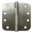 Deltana<br />SS44R5U32D-R STAINLESS STEEL DOOR HINGES - 4&quot; x 4&quot; STAINLESS STEEL RESIDENTIAL 5/8&quot; RADIUS DELTANA DOOR HINGE PAIR - US32D FINISH