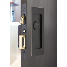 Emtek 2113 Emtek Modern Rectangular Keyed Pocket Door