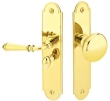 Emtek<br />2290 - ARCHED BRASS SCREEN DOOR LOCK