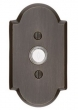 Emtek<br />2421 - DOORBELL BUTTON WITH #1 SANDCAST BRONZE ROSETTE