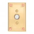 Emtek<br />2451 - 2451 DOORBELL BUTTON WITH ARTS &amp; CRAFTS ROSETTE
