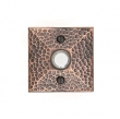 Emtek<br />2452  - 2452 DOORBELL BUTTON WITH HAMMERED ROSETTE