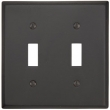 Emtek<br />29312 EMTEK - TOGGLE 2, BRONZE SWITCH PLATE