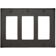 Emtek<br />29323 EMTEK - ROCKER 3, BRONZE SWITCH PLATE