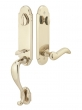 Emtek<br />452112 - Remington Entry Handleset Tumbled White Bronze- Double Cylinder