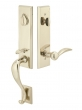 Emtek<br />452512 - Rectangular Monolithic Entry Handleset Tumbled White Bronze- Double Cylinder