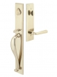 Emtek<br />452613 - Rectangular Full Length Entry Handleset Tumbled White Bronze- Double Cylinder