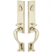 Emtek<br />454515 - Tumbled White Bronze Rectangular Monolithic Grip by Grip Handleset - Double Cylinder