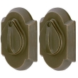 Emtek<br />8357 - SANDCAST BRONZE #1 STYLE PLATE AND FLAP DEADBOLT DOUBLE CYLINDER