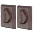Emtek<br />8365 - SANDCAST BRONZE #3 SQUARE PLATE AND FLAP DEADBOLT DOUBLE CYLINDER