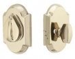 Emtek<br />8457 - Tumbled White Bronze #1 Style Plate and Flap Deadbolt Single Cylinder