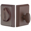 Emtek<br />8465 - SANDCAST BRONZE #3 SQUARE PLATE AND FLAP DEADBOLT - SINGLE CYLINDER