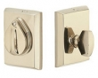 Emtek<br />8465 - Tumbled White Bronze #3 Style Plate and Flap Deadbolt Single Cylinder