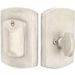Emtek<br />8474  - SANDCAST BRONZE #4 PLATE AND FLAP DEADBOLT - SINGLE CYLINDER
