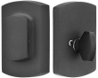 Emtek<br />8476 - SANDCAST BRONZE RIDGEMONT STYLE PLATE AND FLAP DEADBOLT - SINGLE CYLINDER - RUSTIC MODERN