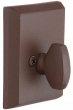 Emtek<br />8565 - SANDCAST BRONZE #3 STYLE RECTANGULAR SINGLE SIDED DEADBOLT