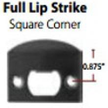 Emtek 86084 Emtek Full Lip Strike Square Corners At Door