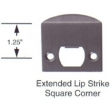 Emtek<br />86086 - EXTENDED LIP STRIKE, SQUARE CORNERS