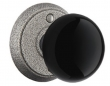 Emtek<br />Select the Rose - Wrought Steel Madison Black Knob