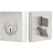 Emtek<br />S50003 - STAINLESS STEEL SQUARE DEADBOLT - SINGLE CYLINDER