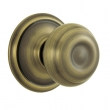 Schlage<br />F10 GEO 609 . - Georgian Knob Passage Set - Antique Brass
