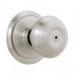 Schlage<br />F40 GEO 619  - Georgian Knob Privacy Set - Satin Nickel