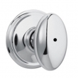 Schlage<br />F40 SIE 625  - Siena Knob Privacy Set - Bright Chrome