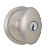 Schlage<br />F51 SIE 619 - Siena Knob Keyed Entrance Lock - Satin Nickel