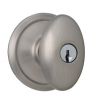 Schlage<br />F51 SIE 620  - Siena Knob Keyed Entrance Lock - Antique Pewter