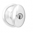 Schlage<br />F51 SIE 625  - Siena Knob Keyed Entrance Lock - Bright Chrome