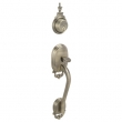 Schlage<br />F360 BOW 609  - Bowman Handleset - Antique Brass