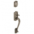 Schlage<br />F392 CAM 620  - FRONT DOOR LOCK Camelot Handleset DUMMY - Antique Pewter
