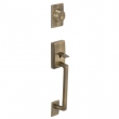 Schlage<br />F392 CEN 609  - FRONT DOOR LOCK Century Handleset DUMMY - Antique Brass