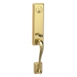 Schlage<br />FA360 MON 505 with MON INTERIOR - Monaco Handleset - PVD Polished Brass