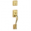 Schlage<br />FA360 STN 505  - Sutton Handleset - PVD Polished Brass