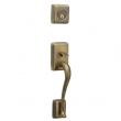 Schlage<br />FA360 STN 609  - Sutton Handleset - Antique Brass