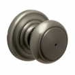 Schlage<br />F40 AND 620  - Andover Knob Privacy Set - Antique Pewter