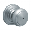 Schlage<br />F40 AND 626  - Andover Knob Privacy Set - Satin Chrome