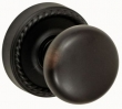Fusion Hardware <br />01-B8 - Half Round Knob with Rope Rose