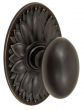Fusion Hardware <br />02-D9 - Egg Knob with Oval Floral Rose